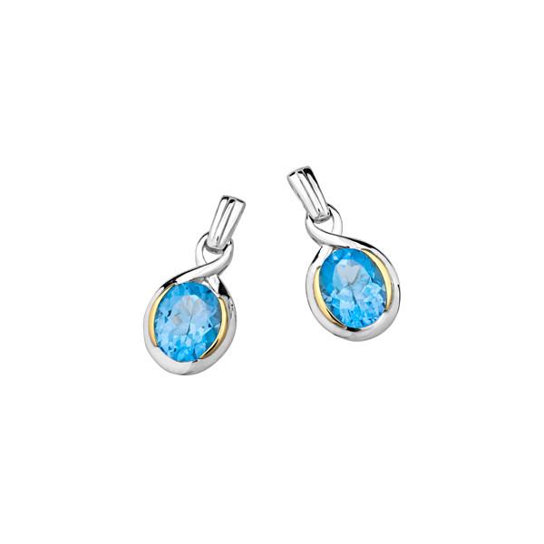 Blue Topaz Earrings