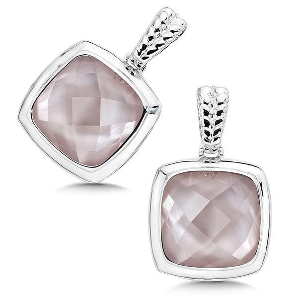 Pink Shell Earrings in Sterling Silver