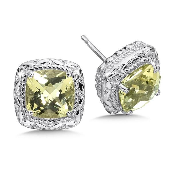 Lima Quartz Earrings in Sterling Silver