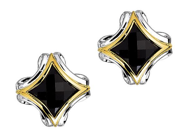 Onyx Earrings in 18k Gold $ Sterling Silver