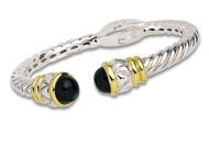 Onyx Bracelet 18k Gold & Sterling Silver