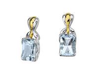 Aquamarine Earrings in 18k Gold & Sterling Silver