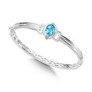 Blue Topaz Bracelet in 18k & Sterling Silver