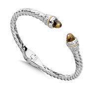 Bangle Bracelet Mounting for Gemstone Caps / Not Included