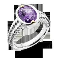 Amethyst Ring in 18k Gold & Sterling Silver