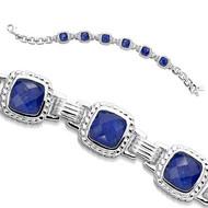 Lapis Bracelet in Sterling Silver
