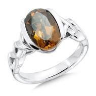 Honey Citrine Ring in Sterling Silver