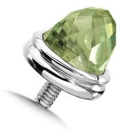 Large Green Amrthyst Single Bracelet Cap