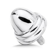 Large Silver Single Bracelet Cap