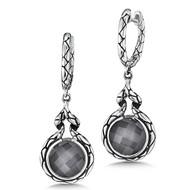 Hematite Earrings in Sterling Silver
