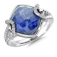 Lapis & Diamond Ring