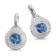 London Blue Topaz Earrings in Sterling Silver
