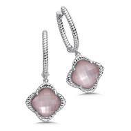 Rose Shell Earrings in Sterling Silver