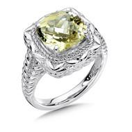 Lima Quartz Ring in Sterling Silver