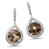 Smoky Quartz Earrings in Sterling Silver