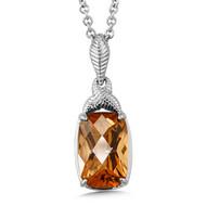 Honey Citrine Pendant in Sterling Silver