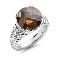 Smoky Quartz Ring in Sterling Silver