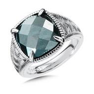 Hemitate Ring in Sterling Silver