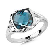 London Blue Topaz Ring in Sterling Silver