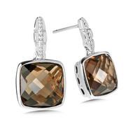 Smokey Quartz Earrings in Sterling Silver