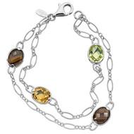 Mixed Gemstone Bracelet in Sterling Silver