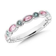 Pink & Green Tourmaline Ring