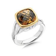 Honey Citrine Ring in 18k & Sterling Silver