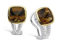Honey Citrine Earrings in 18k Gold & Sterling Silver